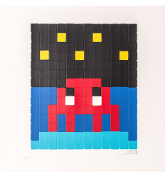 Print Space One Red by Invader