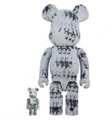 Sculpture bearbrick 400%+100% Andy Warhol Elvis Presley[PREORDER]