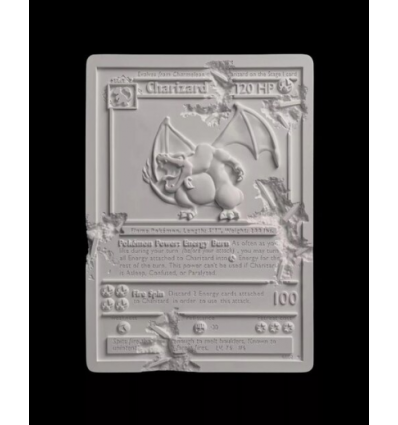 Sculpture CRYSTALIZED CHARIZARD CARD White by DANIEL ARSHAM