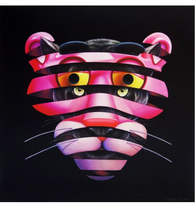 Print Pink Panther Trapped by Super A
