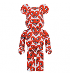 Sculpture 1000% Bearbrick - Keith Haring v6 Heart Face [PRE-ORDER]
