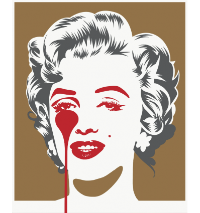 Affiche Marilyn Classic - Gold & Grey by PURE EVIL