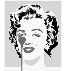 Affiche Marilyn Classic - Silver & Black by PURE EVIL