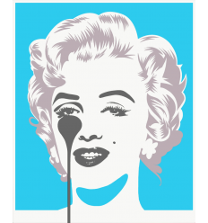 Affiche Marilyn Classic - Blue & Silver by PURE EVIL