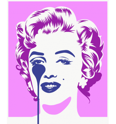 Affiche Marilyn Classic - Pink & Purple by PURE EVIL