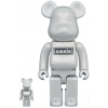 Sculpture bearbrick 400% & 100% Oasis White Chrome [PREORDER]