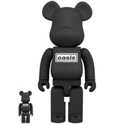 Sculpture bearbrick 400% & 100% Oasis Black Rubber[PREORDER]