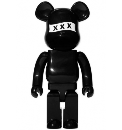 Sculpture 1000% Bearbrick - God Selection XXX BLACK
