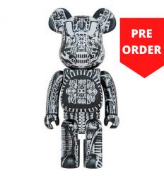 Sculpture 1000% Bearbrick - H.R. Giger Black Chrome [Pre Order]