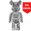 Sculpture 1000% Bearbrick - H.R. Giger White Chrome [Pre Order]