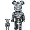 Sculpture 400+100% Bearbrick - H.R. Giger Black Chrome [Pre Order]