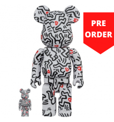 Sculpture 400+100% Bearbrick - Keith Haring v8 [Pre Order]