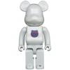 Sculpture 1000% Bearbrick - Bearbrick Logo - 1st Model White Chrome [Pre Order]