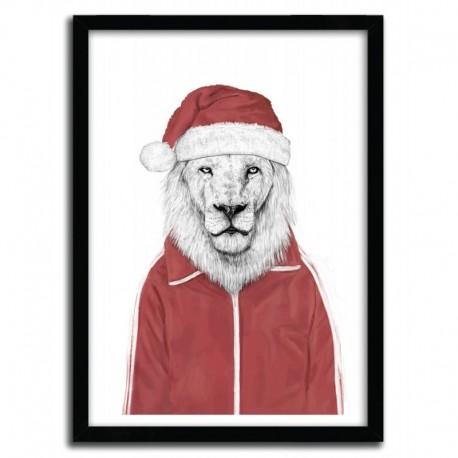 Affiche SANTA LION par BALAZS SOLTI