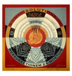 Noise Sonic Solutions Inc. Resurrectionem Vinyl by SHEPARD FAIREY alias OBEY