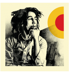 Print Bob Marley Sun Is Shining by SHEPARD FAIREY alias OBEY