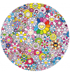 Print Happy x A Trillion Times Flower by TAKASHI MURAKAMI
