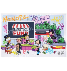 Print Monopz Saves Small Biz Barstool Fund by Alec Monopoly