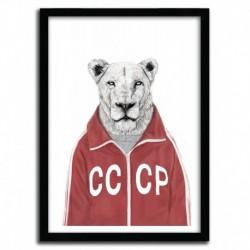 Affiche SOVIET LION par BALAZS SOLTI