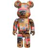 Sculpture 400% & 100% Bearbrick set - Andy Warhol x Jean-Michel Basquiat V2 [Pre Order]