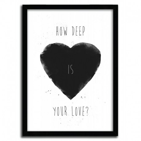 Affiche HOW DEEP IS YOUR LOVE par BALAZS SOLTI