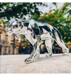 Sculpture Panther Spirit Silver Edition by Richard Orlinski
