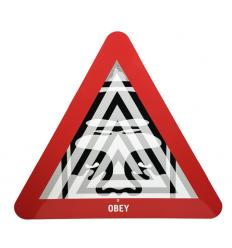 Unyielding Metal Street Sign by SHEPARD FAIREY alias OBEY