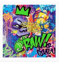 Print RAW ! Green by Richard Orlinski