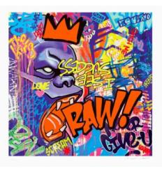 Print RAW ! Orange by Richard Orlinski