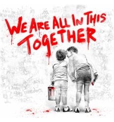 Print We Are All In This Together Red by Mr Brainwash