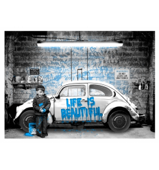 Print New Paint Job Blue by Mr Brainwash