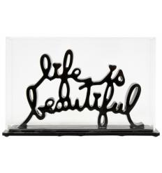 Sculpture Life Is Beautiful Black by Mr Brainwash
