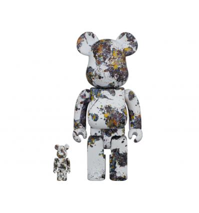 Sculpture bearbrick 400+100% Jackson Pollock V3 Splash