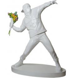 Sculpture 3FT Flower Bomber Sculpture inspired by Banksy x Medicom