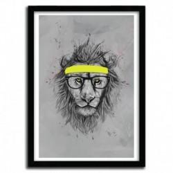 Affiche HIPSTER LION par BALAZS SOLTI