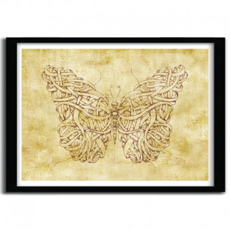 Affiche BUTTERFLY VINTAGE by MIKE KOUBOU