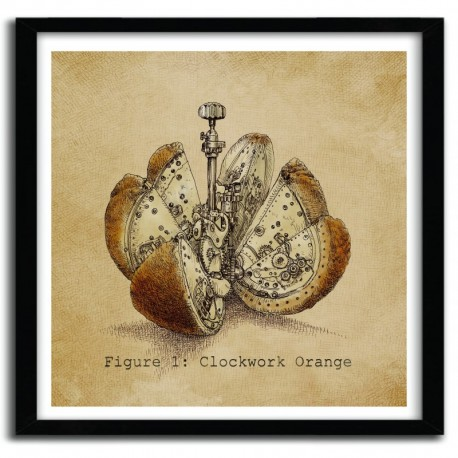 Affiche CLOCKWORK ORANGE by Eric Fan