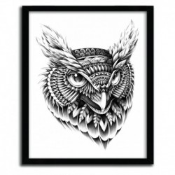 Affiche ORNATE OWL HEAD BY BIOWORKZ