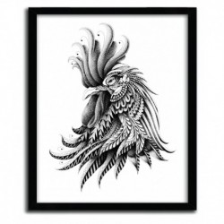 Affiche ORNATE ROOSTER BY BIOWORKZ