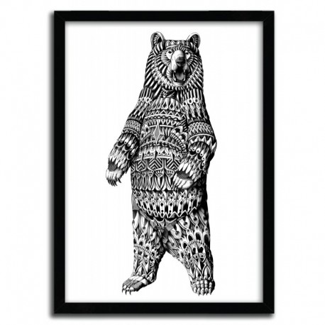 Affiche ORNATE GRIZZLY BEAR BY BIOWORKZ