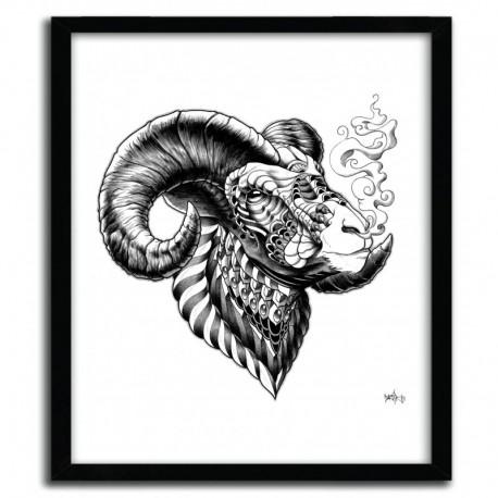 Affiche BIGHORN SHEEP BY BIOWORKZ